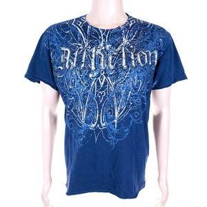 Affliction Men T-Shirt 100% Cotton Size L